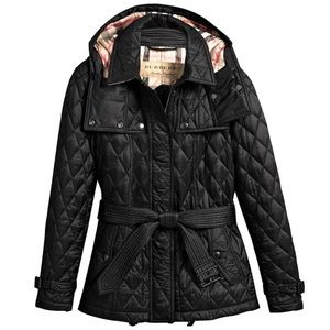 Burberry Finsbridge Hooded Quilted Short Jacket